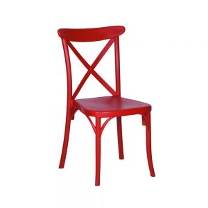 chaise capri rouge