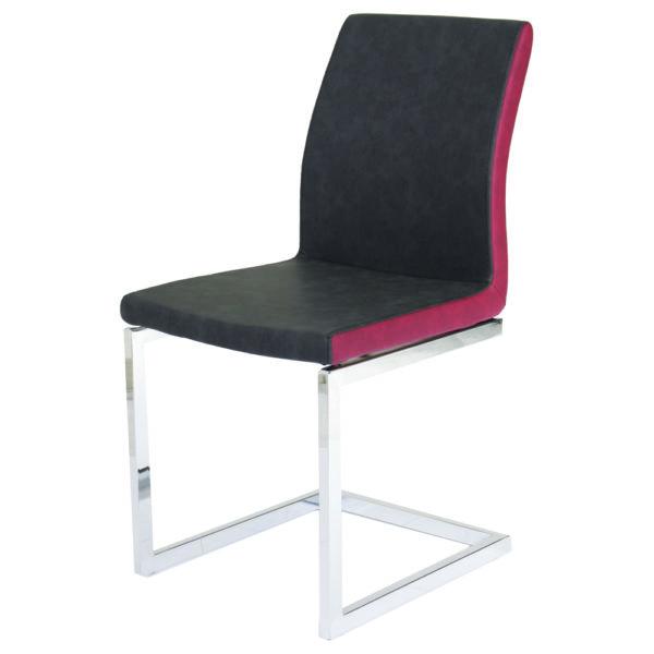 chaise métal chromé