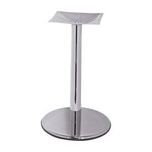 pied de table chrome