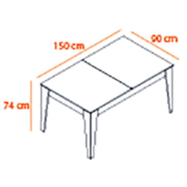 TABLE POLITE DIMENSION