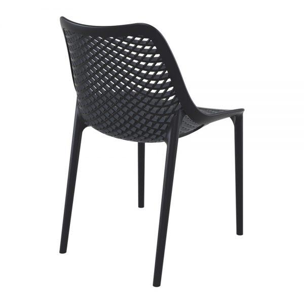 chaise air noir dos