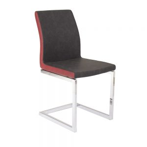 chaise vera c métal chromé