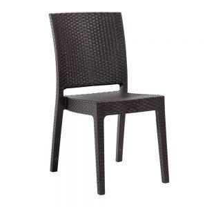 chaise nice marron