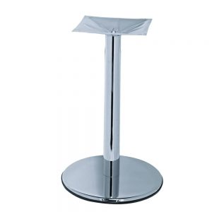 pied de table chrome socle rond flat
