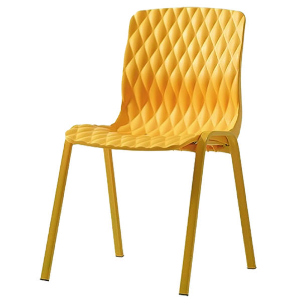 chaise jaune empilable