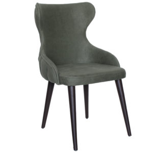 chaise verte en bois