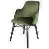 fauteuil velours vert